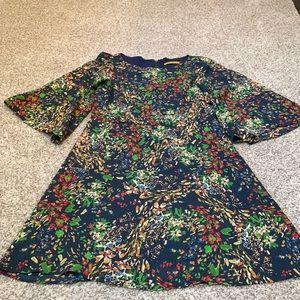 Alice & Olivia silk dress size S blue floral